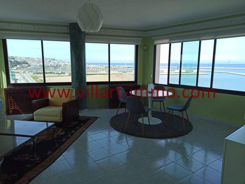 A louer à Tanger, superbe appartement avec vue total sur mer