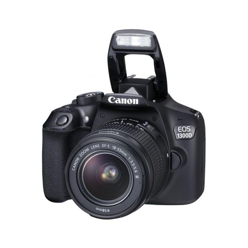 Reflex Canon EOS 1300D + Objectif Canon EF-S 18-55mm DC III STM (1160C009AA)