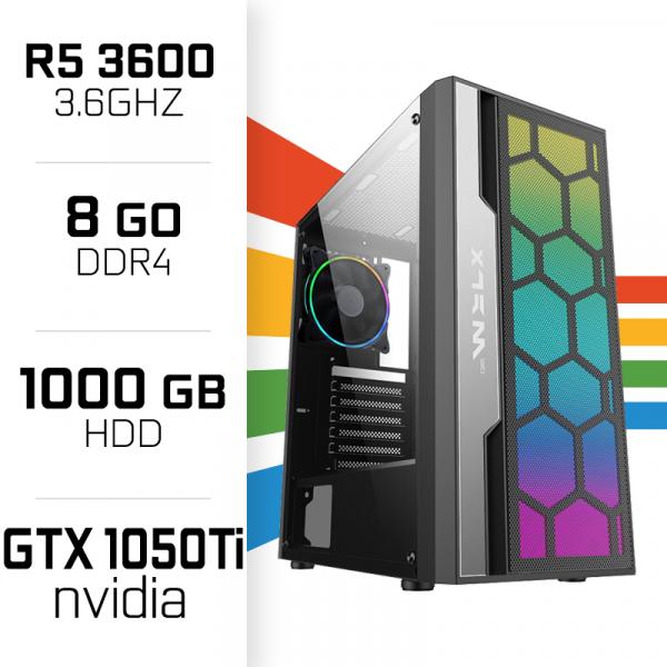 PC Gamer UltraPC Ryzen5 GEN3-I 3600/8GB/1TB/GTX1050Ti