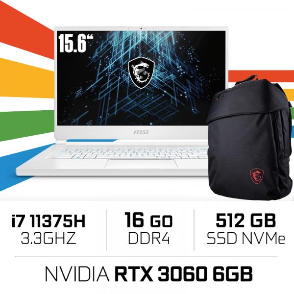 """MSI STEALTH 15M A11UEK i7-11375H/16GB/512GB SSD/RTX3060 6GB/15.6"""" IPS"""