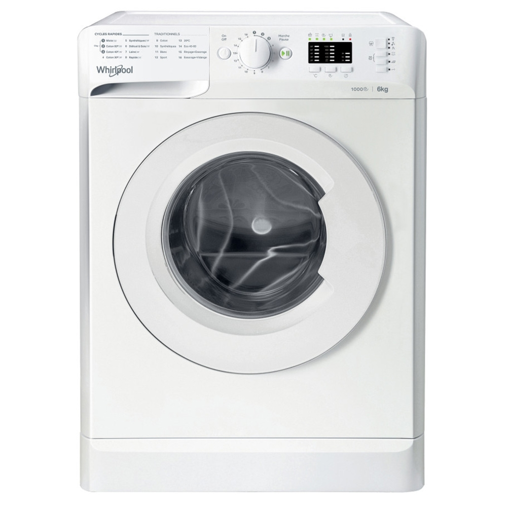 MACHINE A LAVER WHIRLPOOL FRONTALE 6 KG 1000T BLANC